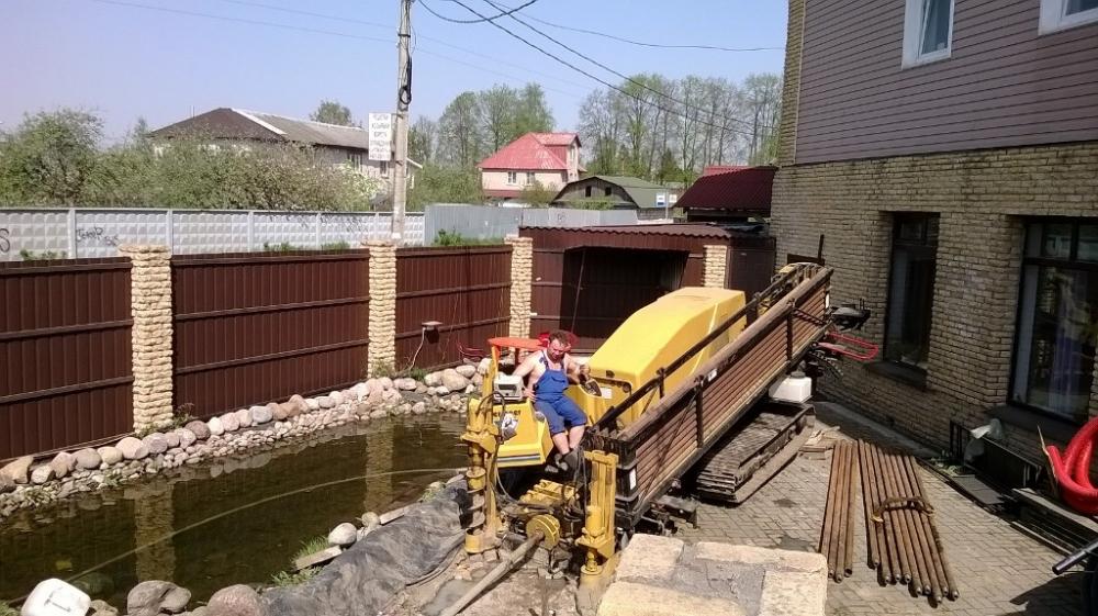 Водоснабжение дачи методом ГНБ